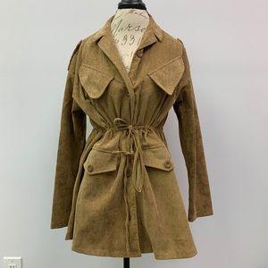 Tan Cord Oversized Jacket